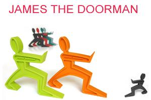 James the doorman door stop
