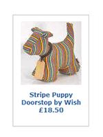 Stripe Puppy Doorstop by Wish