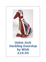 Union Jack Duckling Doorstop by Wish