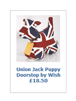 Union Jack Puppy Doorstop by Wish